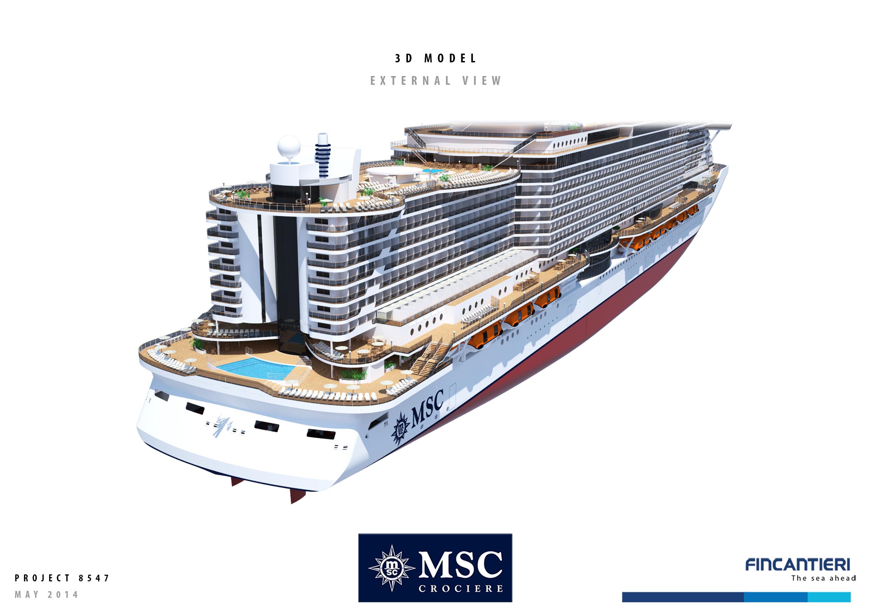 Msc fincantieri comunicato stampa ufficiale e foto for Lista punch per la costruzione di nuove abitazioni
