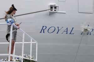 kate christens boat