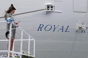kate christens boat