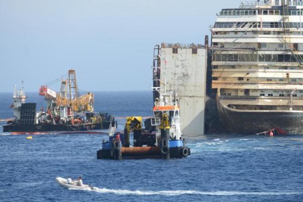 Isola del Giglio - Costa Concordia - la situazione nella prima m