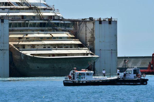La Concordia a Genova