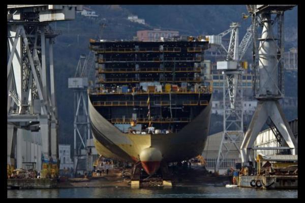 Ultimo varo per l'azienda navale Fincantieri di Castellammare di Stabia