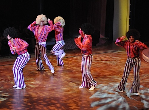 The Pacific Entertainers do their rendition of the Jackson Five's ABC during their 'Motor City, a tribute to the best of Motown' show