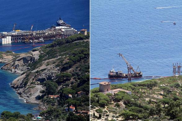 Prima e dopo Concordia all'Isola del Giglio