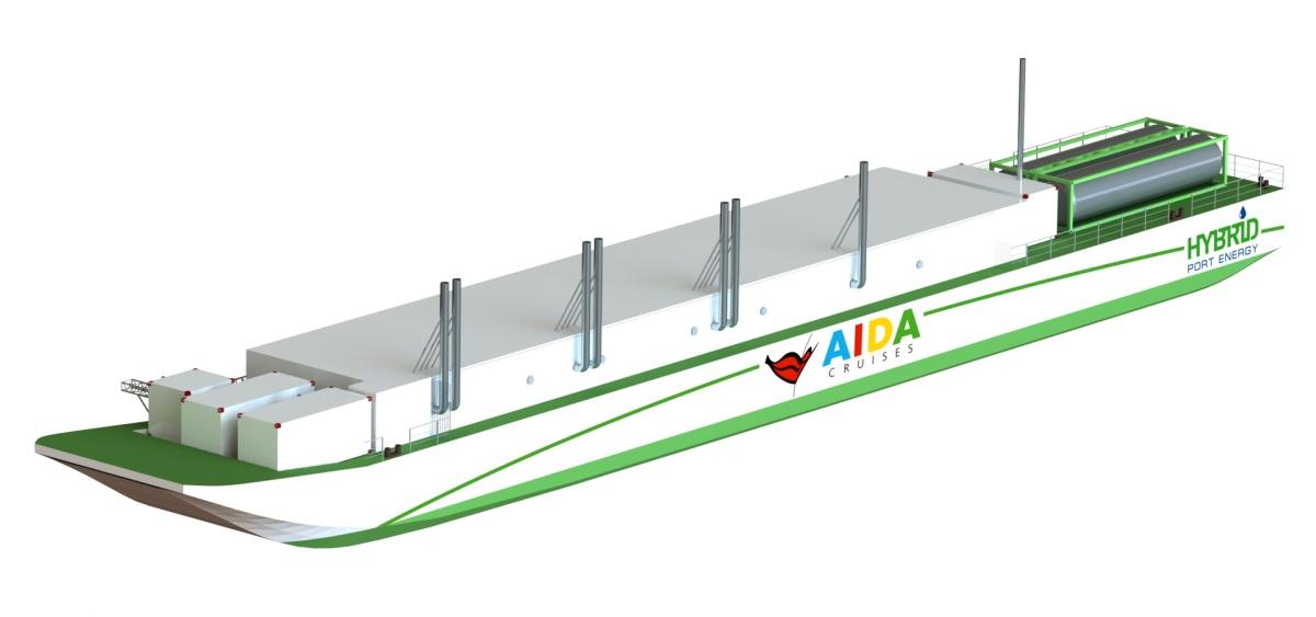 Porto di Amburgo: pronta la 1° chiatta ecologica a GNL per Aida Cruises