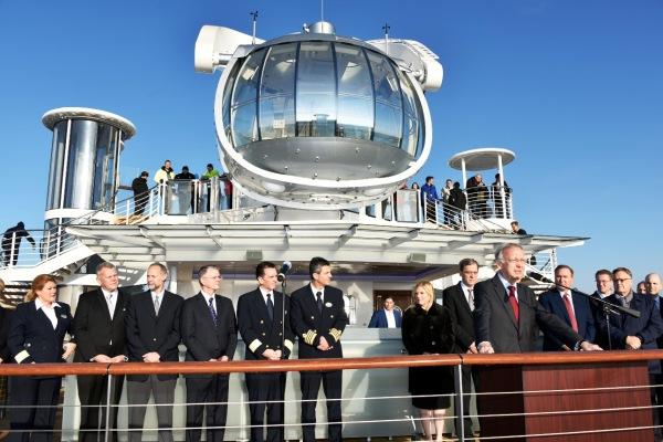 Quantum of the Seas consegnata a Royal Caribbean: sarà la nuova ammiraglia della flotta