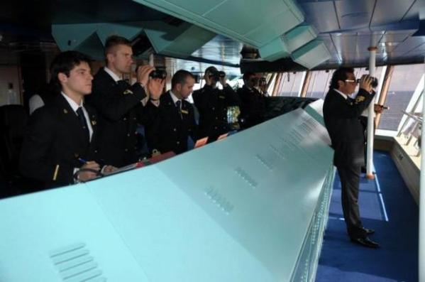 Plancia di comando Concordia